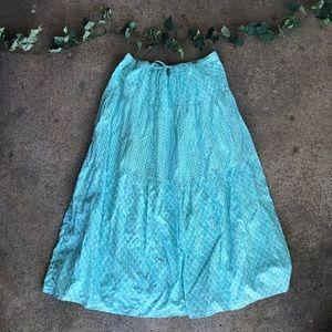 J. Jill Bohemian Gypsy Maxi Skirt